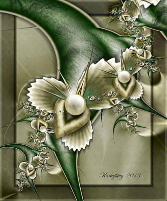 Digital Art - Sculptured Pearls by Karla White