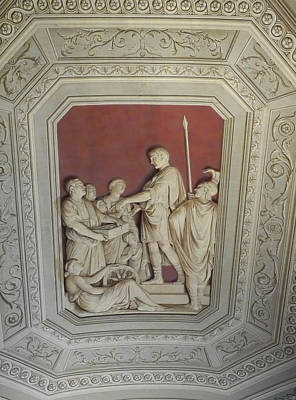 Photograph - Sculptured Vatican Ceiling by Herb Paynter