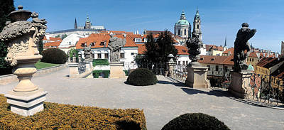Prague Photograph - Sculptures In A Garden, Vrtbovska by Panoramic Images