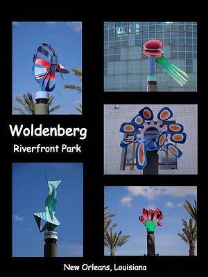 Photograph - Sculptures In Woldenberg Riverfront Park by Kathy K McClellan