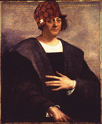 Mixed Media - Scumbag Columbus by Michelle Dallocchio