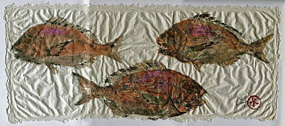 Scup On Rice Paper Art Print
