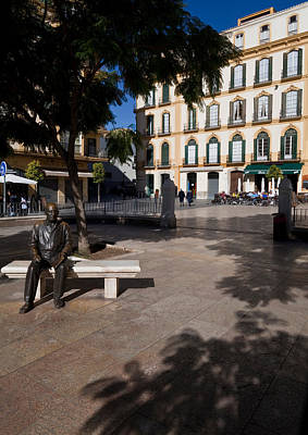 Scupture Of Picasso On The Plaza De La Art Print by Panoramic Images