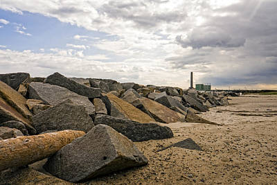 Photograph - Scusset Beach Jetty And Power Plant by Frank Winters