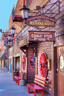 Judy Photograph - Sd, Deadwood, Main Street, Historic by Jamie and Judy Wild