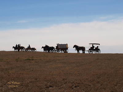 Sd Wagon Train Art Print