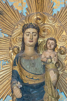Madonnas Photograph - Se Do Porto, Portugal, Oporto, Madonna by Jim Engelbrecht