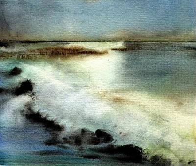 Painting - sea by Agnes Trachet