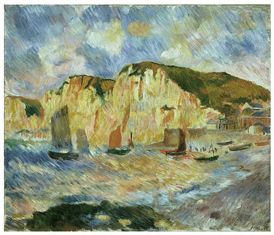 Sea And Cliffs Art Print by Pierre-Auguste Renoir