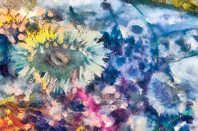 Mixed Media - Sea Anemone Garden by Priya Ghose