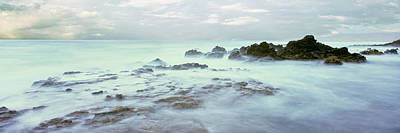 Baja Photograph - Sea At Dawn, Las Rocas Beach, Baja by Panoramic Images