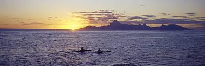Moorea Photograph - Sea At Sunset, Moorea, Tahiti, Society by Panoramic Images