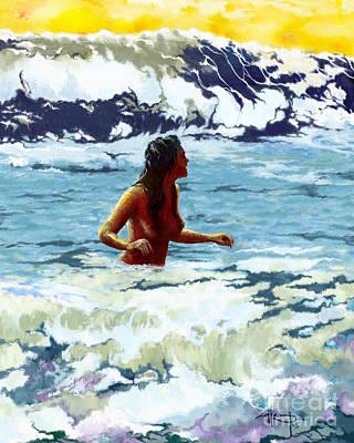 Bathe Digital Art - Sea Bath by Saurabh Dey