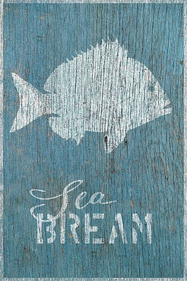 Shell Sign Painting - Sea Bream by Cora Niele