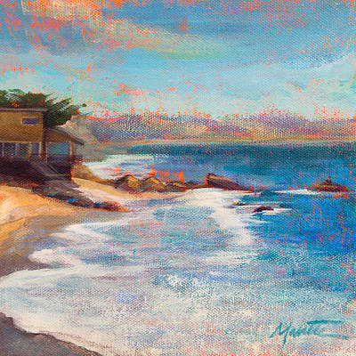 California Coast Painting - Sea Breeze by Athena  Mantle