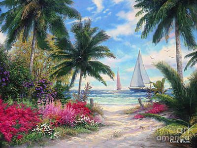 Sailboats Painting - Sea Breeze Trail by Chuck Pinson
