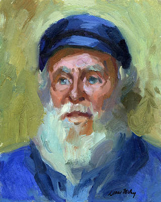 Ship Captain Painting - Sea Captain 1 by Diane McClary
