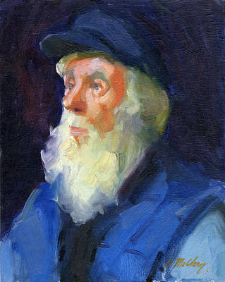 Sea Captain Painting - Sea Captain 2 by Diane McClary