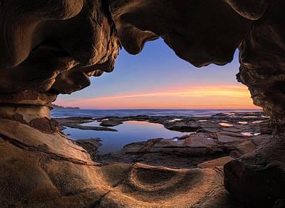 Ocean View Photograph - Sea Cave by Jingshu Zhu