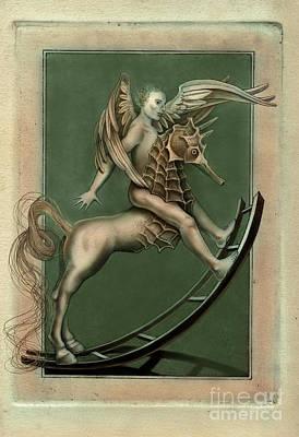 Digital Art - Sea Centaur by Carole Lindberg