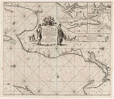 Sea Chart Of A Portion Of The Baltic Coast Of Poland Art Print