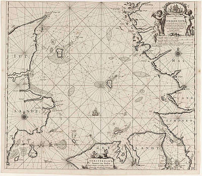 Sea Chart Of Denmark In The Skagerrak And Kattegat Art Print