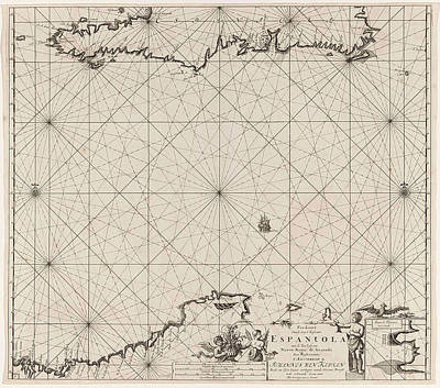 Dominican Drawing - Sea Chart Of Haiti, The Dominican Republic by Litz Collection