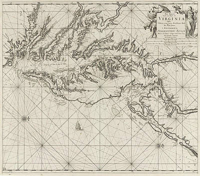 Data Drawing - Sea Chart Of Part Of The Coast Of Virginia by Jan Luyken And Claes Jansz Voogt And Johannes Van Keulen (i)