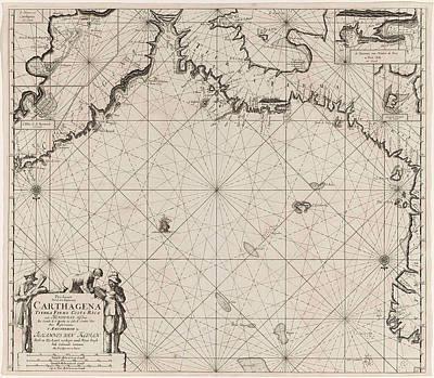 Sea Chart Of The Coasts Of Colombia, Panama, Costa Rica Art Print