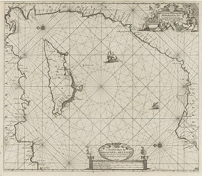 Cyprus Drawing - Sea Chart Of The Eastern Part Of The Mediterranean by Cyprus And Anonymous And Johannes Van Keulen (i)