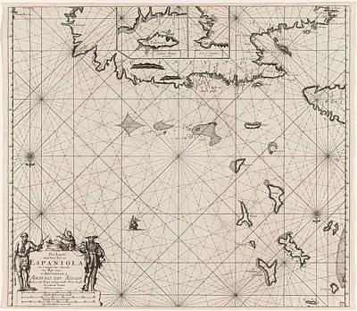 Sea Chart Of The North Coast Of Hispaniola Art Print