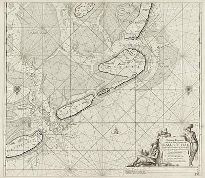 Sea Chart Of The Wadden Sea From Den Helder To Terschelling Art Print by Jan Luyken And Johannes Van Keulen (i)