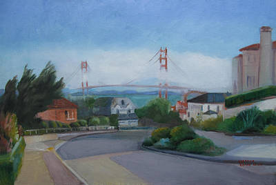 Painting - Sea Cliff Area San Francisco  by Suzanne Cerny