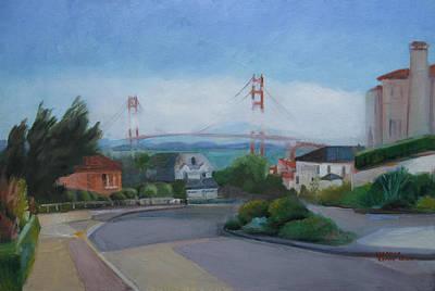 Painting - Sea Cliff Area San Francisco  by Suzanne Giuriati-Cerny