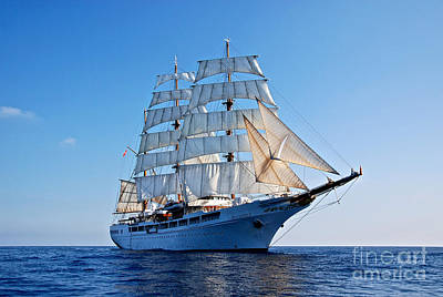 Photograph - Sea Cloud II Under Sail by Jan Daniels