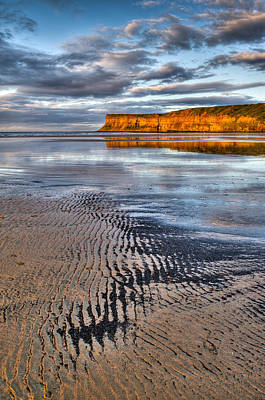 Photograph - Sea Coal Saltburn Sunset by Gary Eason