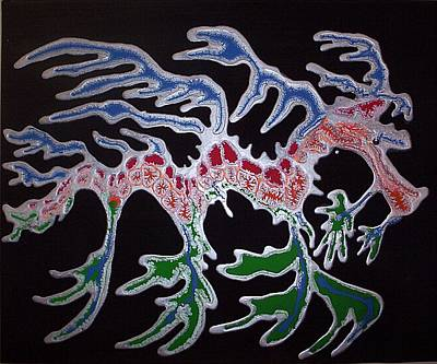 Sea Wall Art - Painting - Sea Dragon by Joan Stratton