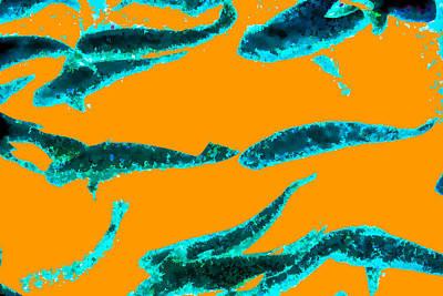 Sea Dreams 1 Orange Art Print