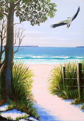 Painting - Sea Eagle At Jervis Bay by Anne Gardner
