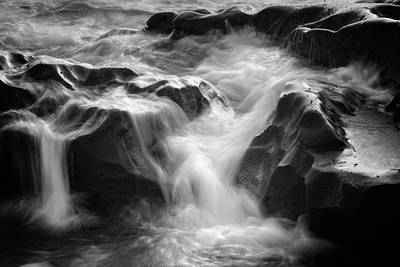 Energy Photograph - Sea Foam Falls by Joseph Smith