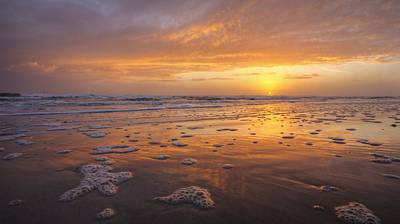 Sea Foam Sunrise Art Print by Danny Mongosa