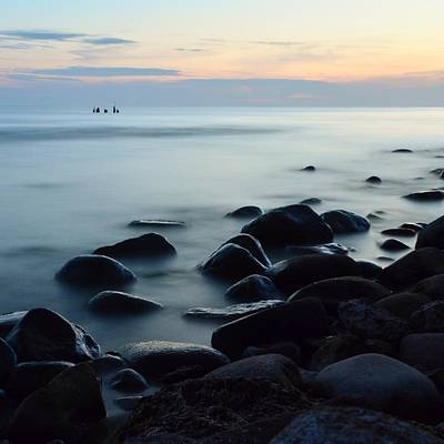Photograph - Sea Fog Stones by Gynt