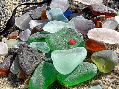 Sea Glass In Multicolors Art Print by Janice Drew