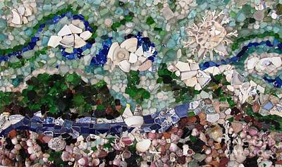 Ceramic Mixed Media - Sea Glass Nature  by Ted Pollard