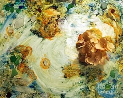 Dried Mixed Media - Sea Glass Tidepool by Nancy Kane Chapman