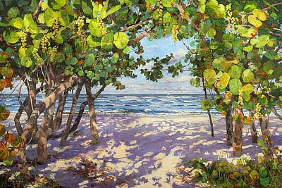 Fruit Tree Art Painting - Sea Grape Delight by Carol McArdle