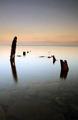 Photograph - Sea Groynes by Grant Glendinning