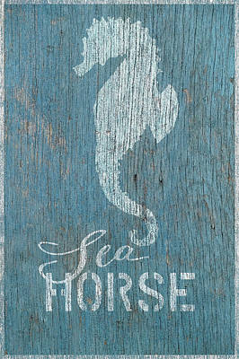 Shell Sign Painting - Sea Horse by Cora Niele