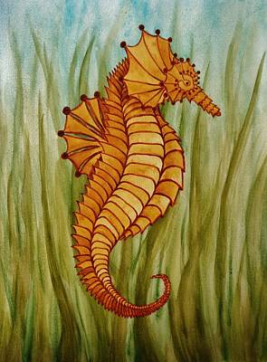 Painting - Sea Horse by Katherine Young-Beck