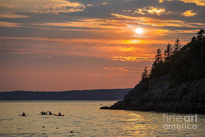 Kayaker Photograph - Sea Kayakers In Frenchman Bay Maine by Diane Diederich